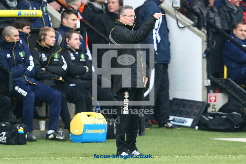 Picture by Paul Chesterton/Focus Images Ltd.  07904 640267.04/02/12.Norwich Manager Paul Lambert during the Barclays Premier League match at Carrow Road stadium, Norwich.