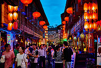 Chengdu, China - September 18, 2014: tourists people walking at Jinli Pedestrian Street in Chengdu Sichuan China