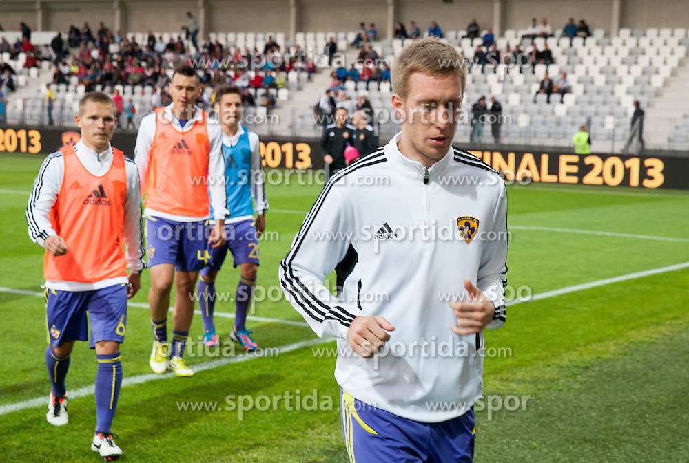 Robert Beric #32 of Maribor prior to the football match between NK Maribor and NK Celje in final of Slovenian Cup 2013 on May 29, 2013 in Stadium Bonifika, Koper, Slovenia. (Photo By Vid Ponikvar / Sportida)