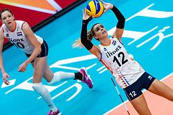 03-10-2018 JPN: World Championship Volleyball Women day 6, Yokohama<br /> Netherlands - Mexico 3-0 / Britt Bongaerts #12 of Netherlands