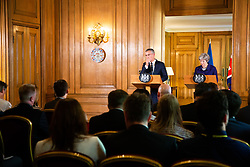 British Prime Minister Theresa May and NATO Secretary General Jens Stoltenberg hold a joint press conference following bilateral talks at 10  Downing Street. London, June 21 2018.