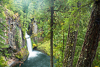 Tokatee Falls. North Umpqua River. Cascade Mountains, Oregon.