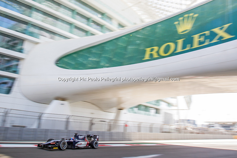 Mitch Evans (NZL) racing for his Russian Time team during the Feature race of the 2015 GP2 Abu Dhabi Grand Prix on 28 November 2015. Copyright photo: Paolo Pellegrini / www.photosport.nz