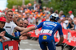 Petr Vakoc (CZE) of Deceuninck - Quick Step (BEL,WT,Specialized) during the 2019 La Flèche Wallonne (1.UWT) with 195 km racing from Ans to Mur de Huy, Belgium. 24th April 2019. Picture: Pim Nijland | Peloton Photos<br /> <br /> All photos usage must carry mandatory copyright credit (Peloton Photos | Pim Nijland)