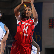 Washington Mystics Guard Tierra Ruffin-Pratt (14) attempts  to pass during the second half of an WNBA preseason basketball game between the Chicago Sky and the Washington Mystics Tuesday, May. 13, 2014 at The Bob Carpenter Sports Convocation Center in Newark, DEL
