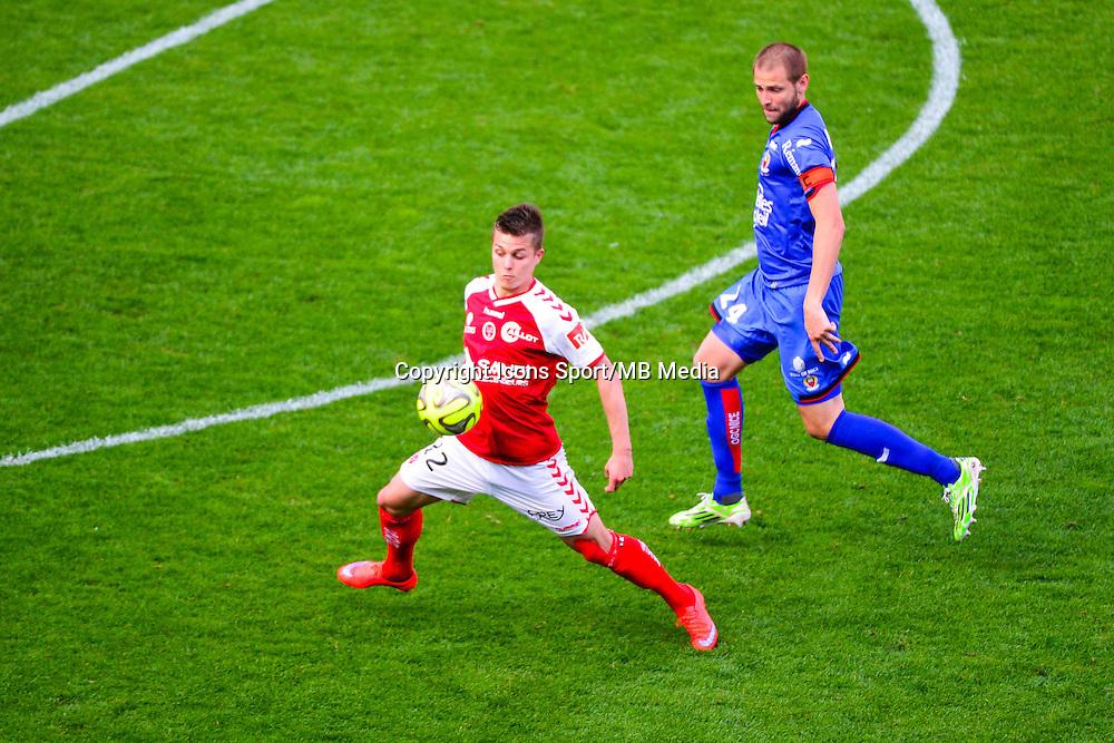 Nicolas DE PREVILLE / Mathieu BODMER - 12.04.2015 - Reims / Nice - 32eme journee de Ligue 1 <br />Photo : Dave Winter / Icon Sport