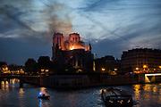 Paris, France. 15 Avril 2019<br /> La cathédrale Notre Dame en feu