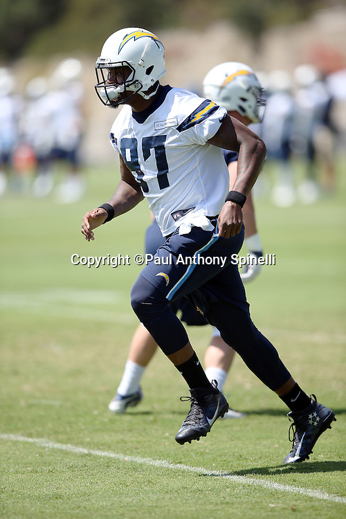 San Diego Chargers tight end Jeff Cumberland (87) goes out for a pass during the Chargers 2016 NFL minicamp football practice held on Tuesday, June 15, 2016 in San Diego. (©Paul Anthony Spinelli)