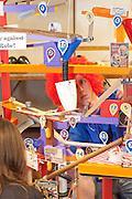 Bay High School team readies their circus themed contraption.
