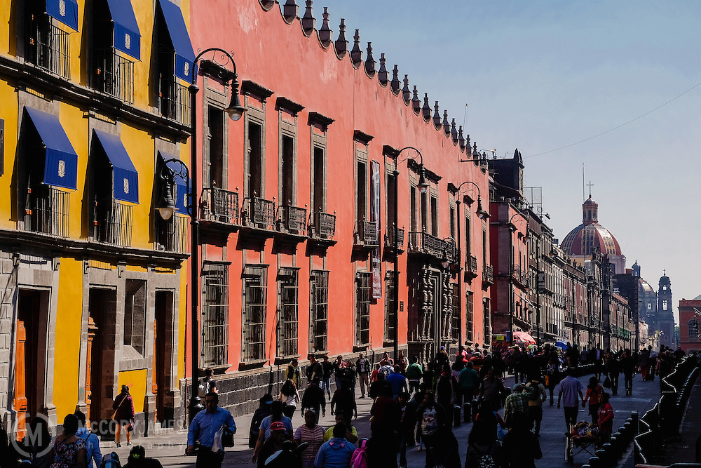 Pedestrian mall in Mexico City