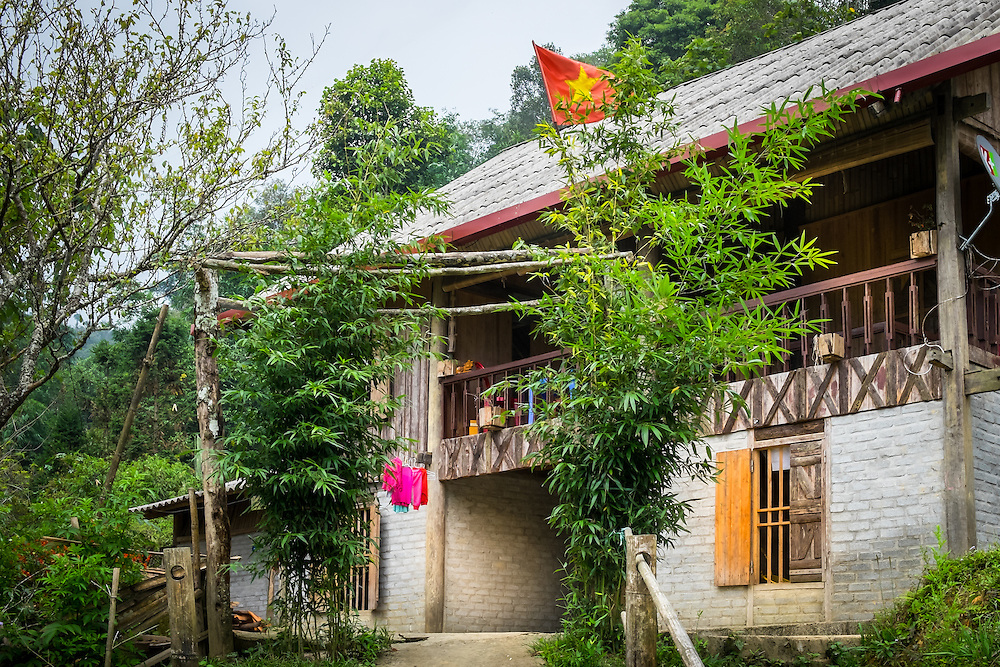 SAPA, VIETNAM - CIRCA SEPTEMBER 2014:  Typical Red Dao house of the Ta Phin Village in North Vietnam