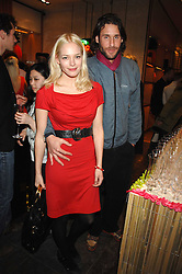 ANNABELLE HORSEY and DAVID DE ROTHSCHILD at a party hosted by Mulberry to celebrate the publication of The Meaning of Sunglasses by Hadley Freeman held at Mulberry 41-42 New Bond Street, London on 14th February 2008.<br />