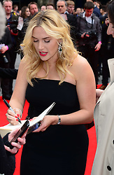 Kate Winslet attends the European premiere of 'Divergent' , Odeon, London, United Kingdom. Sunday, 30th March 2014. Picture by Nils Jorgensen / i-Images