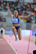 Maryna Bekh-Romanchuk (UKR) places second in the women's long jump at 22-1½ (6.74m) during the IAAF Doha Diamond League 2019 at Khalifa International Stadium, Friday, May 3, 2019, in Doha, Qatar. Bor placed second in 8:08.41. (Jiro Mochizuki/Image of Sport)