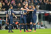 joie de Zlatan Ibrahimovic (PSG) apres son 3e but<br /> joie des joueurs Parisiens