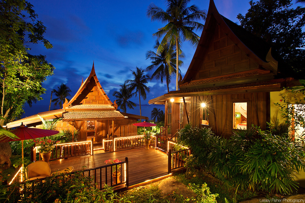 Entance of The Teak House, Nagalaya, Koh Samui, Thailand