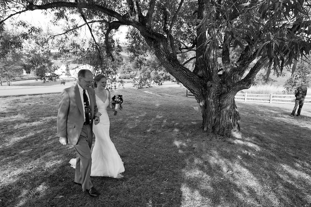 Carlyle Bradley and Michael Nann are married in Steamboat Springs, Saturday, Sept. 17, 2011. Photo by Justin Edmonds