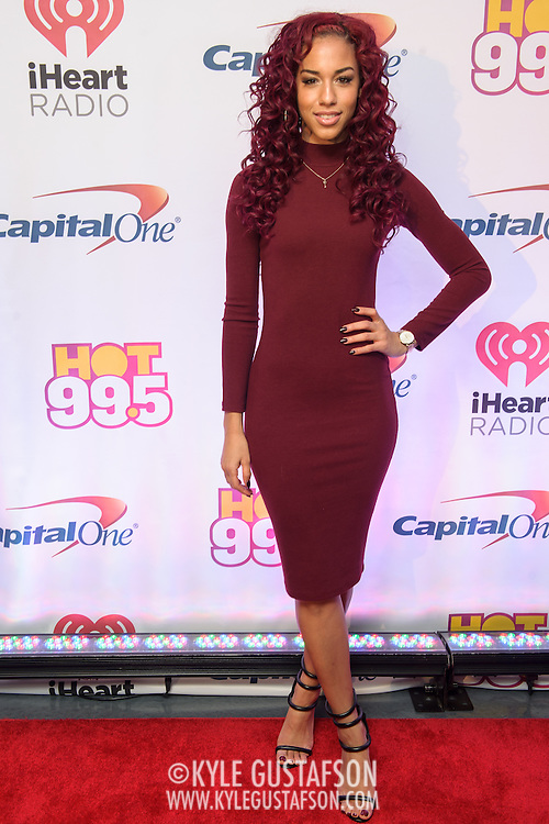 NATALIE LA ROSE walks the red carpet at the Hot 99.5 Jingle Ball at the Verizon Center in Washington, D.C.