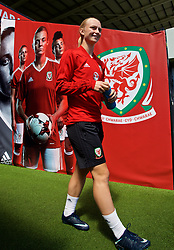 SWANSEA, WALES - Wednesday, June 6, 2018: Wales' Elise Hughes walks out of the players' tunnel before a training session at the Liberty Stadium ahead of the FIFA Women's World Cup 2019 Qualifying Round Group 1 match against Bosnia and Herzegovina. (Pic by David Rawcliffe/Propaganda)