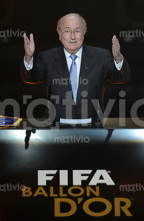 Fussball International  FIFA Ballon d Or  / Weltfussballer 2011   09.01.2012 FIFA Praesident Joseph S. Blatter (Schweiz)