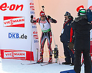 E.ON IBU World Cup Biathlon 8 in Fort Kent Maine February 10, 2011. Men 10 KM Sprint winner was Emil Hegle Svendsen of Norway. Michal Slesingr CZE second and Tarjei Boe Norway was third. Top USA finisher Lowell Bailey 31st.