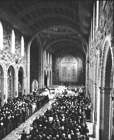 Photographed at the Blessing and opening of Our Lady and St. Nicholas at Galway by his Eminance Cardinal Cushing, Archbishop of Boston and Papal Legate..15.08.1965<br />