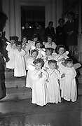 The Crib at the Mansion House, Dublin, was officially opened and blessed by the Reverend Seán Byrne..09.12.1964