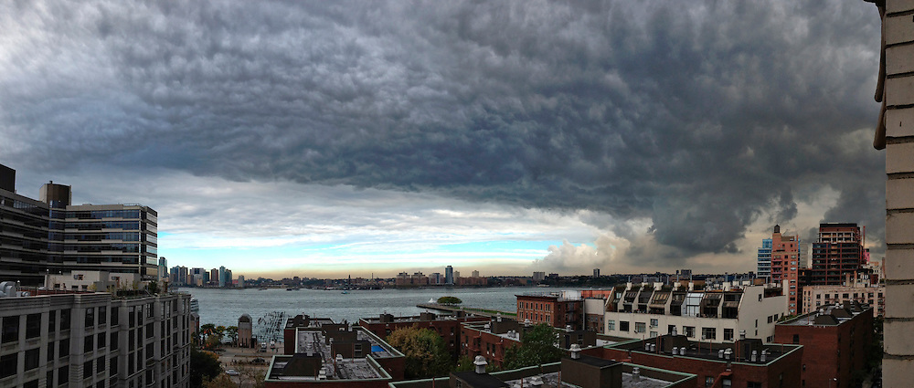 Scary clouds above West Side, Manhattan.