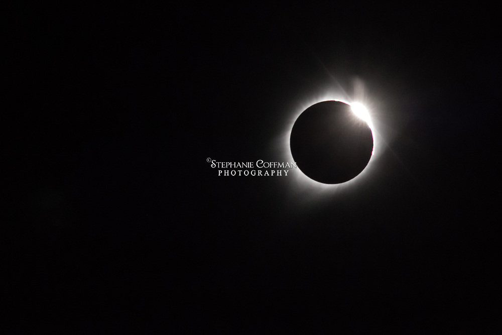 Total solar eclipse as seen from near Arthur, Nebraska on August 21, 2017