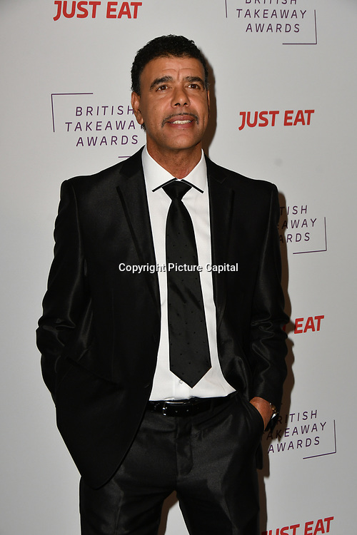 Chris Kamara attends the British Takeaway Awards, in association with Just Eat at London's Savoy Hotel on 12 November 2018, London, UK.