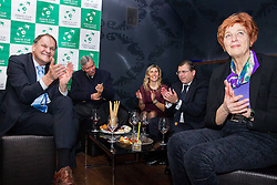 Party in the evening two days before Davis cup Slovenia vs. Portugal on January 29, 2014 in Brioni restaurant, Kranj, Slovenia. Photo by Vid Ponikvar / Sportida
