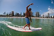 2012, February 10: Dane Pioli surfs at Rainbow Bay on the southern end of the Gold Coast, Queensland, Australia on Friday February 10th, 2012. (Photo: Matt Roberts/OOL media)