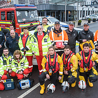 REPRO FREE<br /> Pictured at the launch of a new inter agency led Community First Response (CFR) initiative in Kinsale are representatives from the RNLI, Fire Brigade, Garda Siochona, Civil Defense, Red Cross and Coast Guard.<br /> On Thursday 23rd February 2017 at 19:30 in Actons Hotel, Pier Road, Kinsale a public meeting will be held to advance the initiative and to inform the community on the time-critical work that the volunteer First Response team will be carrying out when requested.<br /> Picture. John Allen<br /> <br /> Kinsale Community First Responders Press Release 				          February 2017 <br /> <br /> Kinsale, Ireland - A new inter agency led Community First Response (CFR) initiative has been established in the popular Cork coastal town of Kinsale.<br /> The new volunteer First Response unit has committed support from local emergency services such as An Garda Siochana, Civil Defence, Fire Brigade, RNLI, Coast Guard and the Irish Red Cross. The groups aim is to provide emergency first response care to people living in the community who suffer cardiac arrest, choking, cardiac chest pain or stroke. <br /> On Thursday 23rd February 2017 at 19:30 in Actons Hotel, Pier Road, Kinsale a public meeting will be held to advance the initiative and to inform the community on the time-critical work that the volunteer First Response team will be carrying out when requested.<br /> The first ten minutes in a cardiac arrest is key, as you reduce the chance of survival by 10% for every minute that passes. Given these statistics, early intervention by means of a 'Chain of Survival' is vital to offer a casualty their best chances. <br /> Chain of Survival<br /> 	•	Recognise cardiac event and call 999/112<br /> 	•	Early CPR <br /> 	•	Rapid Defibrillation <br /> 	•	Paramedic Intervention<br /> 	•	Hospital Care<br /> Kinsale has a population of approximately 5000, which can grow significantly in the summer months, as it is a popular seaside tourist town. And with the nearest ambulance bases in Cork City and Clonakilty situated over thirty minutes away, it is cr