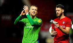 Dan Bentley of Bristol City and Nathan Baker of Bristol City thanks fans at the final whistle-Mandatory by-line: Nizaam Jones/JMP - 18/01/2020 - FOOTBALL - Ashton Gate - Bristol, England - Bristol City v Barnsley - Sky Bet Championship