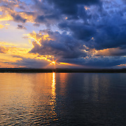 &quot;As the End Nears&quot; <br /> <br /> Gorgeous light, clouds, and reflections on the waters of Lake Superior at Sunset.