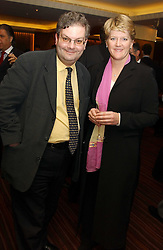 Master betting pundit ANGUS 'Statto' LOUGHRAN and tv presenter CLARE BALDING at a party to celebrate the opening of The Sportsman - a casino, bar and restaurant in Old Quebec Street, London W1 on 12th January 2005.  Proceeds from the casino were donated to the charity Sparks the sports charity.<br />