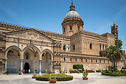 Palermo Cathedral Santa Maria Assunta or Saint Mary of the Assumption, Arab-Norman style architecture, Sicily, Italy