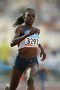 Sheena Johnson of the United States placed fourth in the women's 400-meter hurdles in 53.83 in the 2004 Olympics in Athens, Greece Wednesday, August 24, 2004.