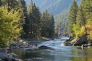 Idaho. South Fork Payette River along the Wildlife Canyon Scenic Byway.