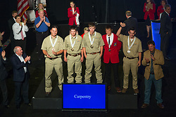 The 2017 SkillsUSA National Leadership and Skills Conference Competition Medalists were announced Friday, June 23, 2017 at Freedom Hall in Louisville. <br /> <br /> Carpentry<br /> <br /> 	Mason Volmer<br />   High School	 Labette County High School<br />   Gold	 Altamont, KS<br /> Carpentry	Toye Patrick<br />   High School	 G. Frank Russell Technology Center<br />   Silver	 Greenwood, SC<br /> Carpentry	Irving Skowfoe<br />   High School	 Capital Region Career &amp; Ed/ Schohairie<br />   Bronze	 Schoharie, NY<br /> Carpentry	Dylan Giager<br />   College	 Fort Scott Community College<br />   Gold	 Fort Scott, KS<br /> Carpentry	Alex Engelmeyer<br />   College	 Alexandria Technical &amp; Community College<br />   Silver	 Alexandria, MN<br /> Carpentry	Matt Spawn<br />   College	 Wayne State College<br />   Bronze	 Wayne, NE