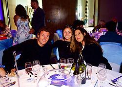 LIVERPOOL, ENGLAND - Saturday, June 23, 2018: Alessandro Giannessi (ITA) Corinna Dentoni (ITA) Marion Bartolli (FRA) at the Hilton Hotel during day three of the Williams BMW Liverpool International Tennis Tournament 2018 at Aigburth Cricket Club. (Pic by Paul Greenwood/Propaganda)