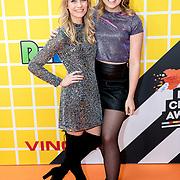 NLD/Amsterdam/20180325 - Nickelodeon Kid's Choice Awards 2018, Spelers van de serie Ghostrockers, Tinne Oltmans en Marie Verhulst