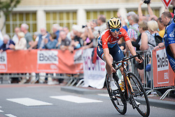 Christine Majerus at Boels Rental Ladies Tour Stage 4 a 121.4 km road race from Gennep to Weert, Netherlands on September 1, 2017. (Photo by Sean Robinson/Velofocus)