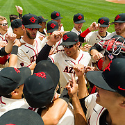15 April 2018: The San Diego State baseball team closed out the weekend series against Cal State Fullerton with a 9-6 win at Tony Gwynn Stadium. <br /> More game action at sdsuaztecphotos.com
