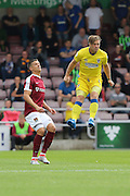 AFC Wimbledon midfielder Dannie Bulman (4) in action during the EFL Sky Bet League 1 match between Northampton Town and AFC Wimbledon at Sixfields Stadium, Northampton, England on 20 August 2016. Photo by Stuart Butcher.