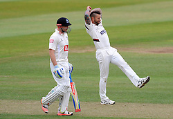 Dejection for Somerset's Peter Trego. - Photo mandatory by-line: Harry Trump/JMP - Mobile: 07966 386802 - 06/07/15 - SPORT - CRICKET - LVCC - County Championship Division One - Somerset v Sussex- Day Two - The County Ground, Taunton, England.