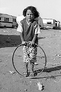 Rome   August 1999.Child Rom Romanian , in the Rom's camp  Casilino 700.
