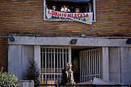 Rome, Italy. 4th February 2016<br /> Occupied an abandoned building in Via Ostiense by about 200 people  without house, of  Action Rights in motion.