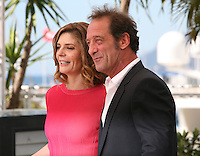 Actress Chiara Mastroianni and Actor Vincent Lindon at Les Salauds film photocall Cannes Film Festival on Wednesday 22nd May 2013