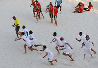 FIFA BEACH SOCCER WORLD CUP 2008 ITALY - SPAIN  26.07.2008 Team Italy (bottom) celebrates while team Spain is dejected.